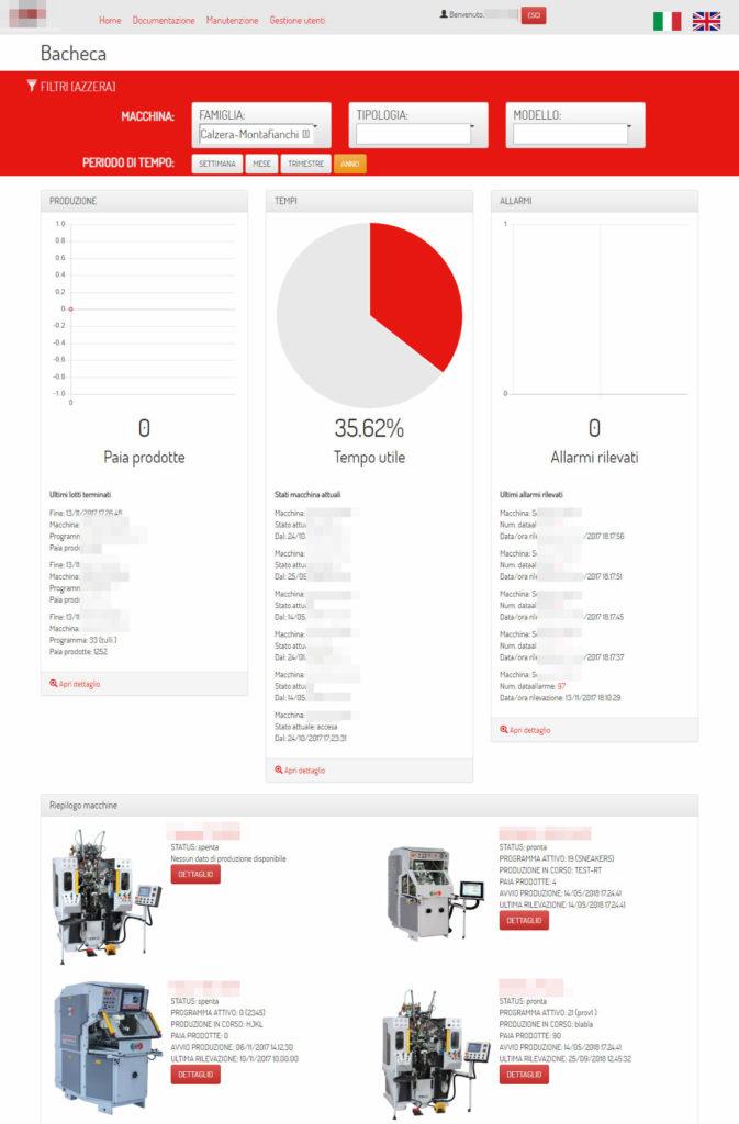 App industria 4.0 per monitorare la produzione calzaturiera - screenshot 0