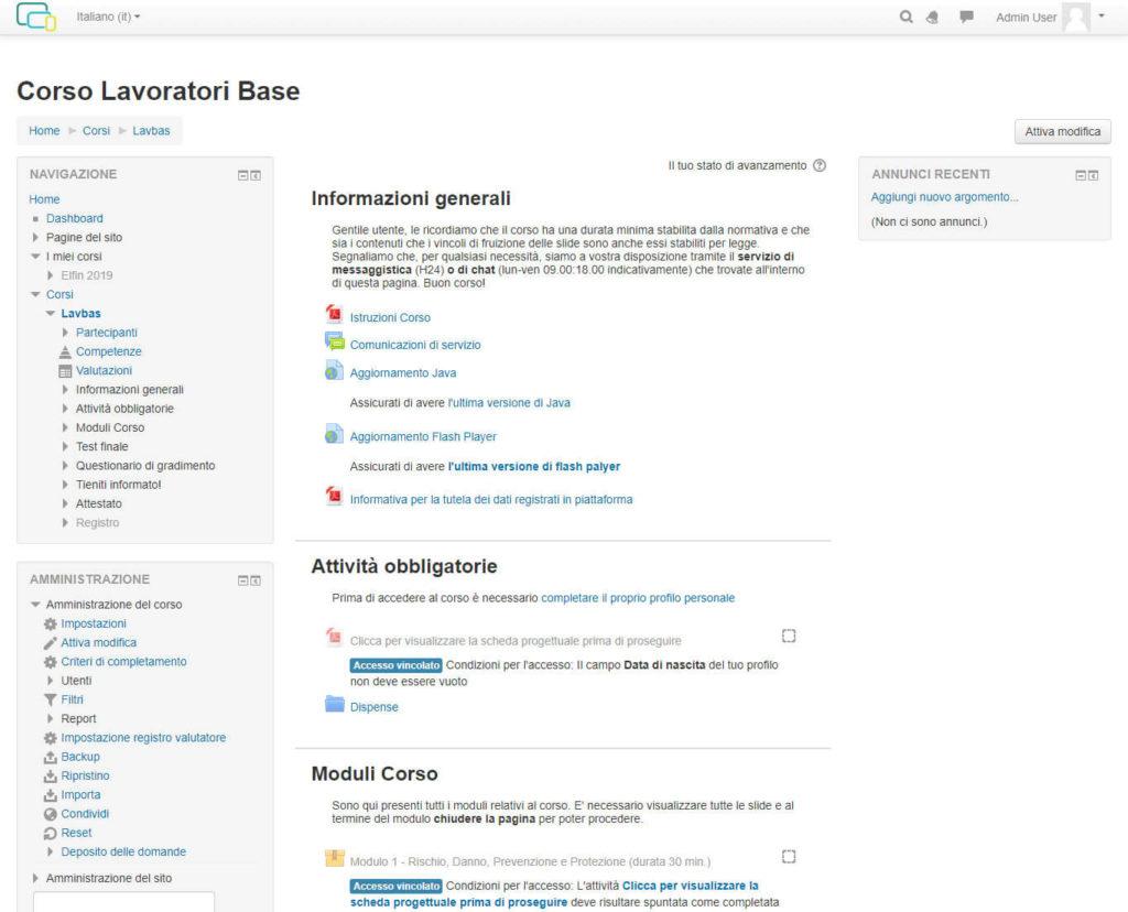 Piattaforma per la formazione aziendale e il supporto alla consulenza - screenshot 1
