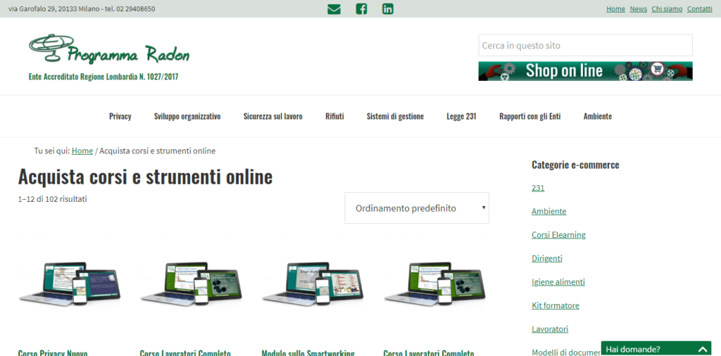 Sito web con blog ed ecommerce - screenshot 1