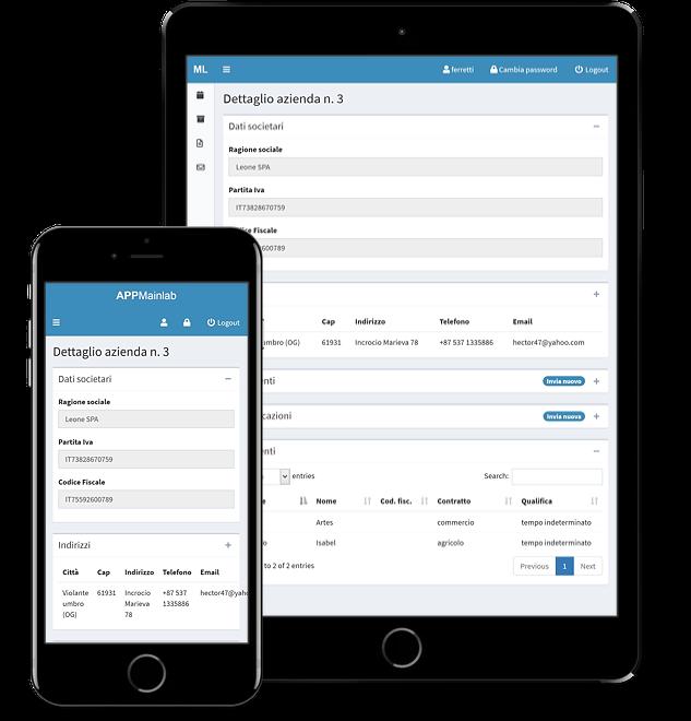 Web app per lo scambio di comunicazioni e documenti fra consulenti del lavoro e aziende clienti - screenshot 5