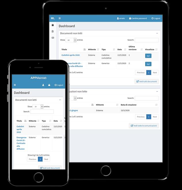 Web app per lo scambio di comunicazioni e documenti fra consulenti del lavoro e aziende clienti - screenshot 1