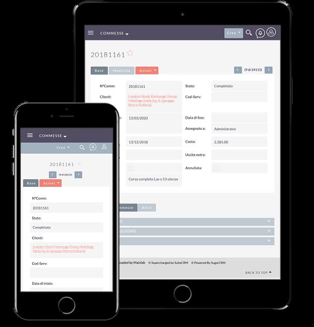 Web app basata su SuiteCrm per società di consulenza specializzata in sicurezza sul lavoro - screenshot 2