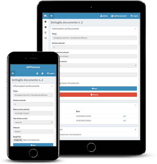 Web app per lo scambio di comunicazioni e documenti fra consulenti del lavoro e aziende clienti - screenshot 3